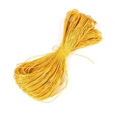 Вощеный шнур 1мм, желтый 1м