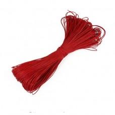 Вощеный шнур 1мм, красный 1м