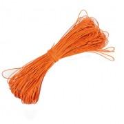 Вощеный шнур 1мм, оранжевый 1м