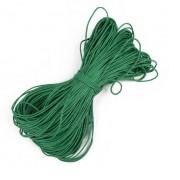 Вощеный шнур 1мм, зеленый 1м