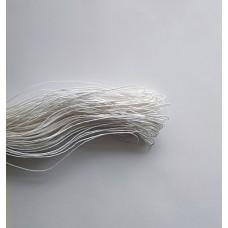 Вощеный шнур 1мм, белый 1м