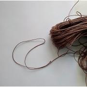 Вощеный шнур 1мм, коричневый 1м