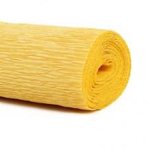 Гофрированная бумага, цвет желтый 50*250см
