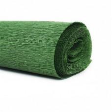Гофрированная бумага, цвет зеленый 50*250см