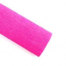 Гофрированная бумага, цвет ярко-розовый 50*250см