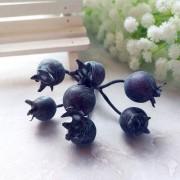 Декоративные ягодки шиповника, синие