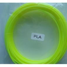 Пластик PLA 1,75 светящийся желтый