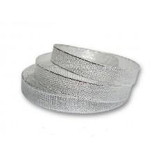 Лента-парча серебро 1см