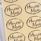 Наклейки с надписью Hand made, 10шт