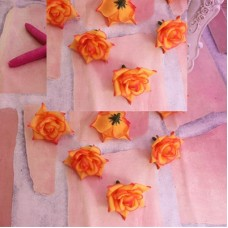 Роза 4см оранжевая