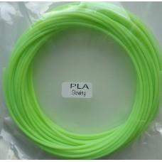 Пластик PLA 1,75 светящийся зеленый