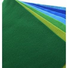 Декоративный фетр, толщина 1,4мм, мягкий, зеленый