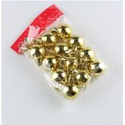Новогодние шарики 3см, 12 шт золото