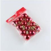 Новогодние шарики 3см, 12 шт красный