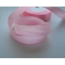 Атласная лента розовая 2см, 1м