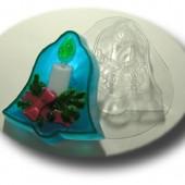 Пластиковая форма для мыла Рождественский колокольчик