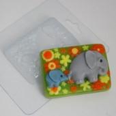 Пластиковая форма Слоненок с мамой мультяшные