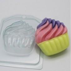 Пластиковая форма Мороженое Мягкое в корзинке