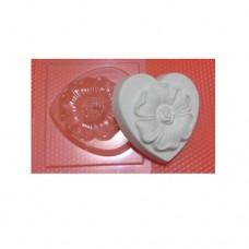 Пластиковая форма Цветок на сердце