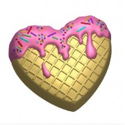 Пластиковая форма Вкусное сердце