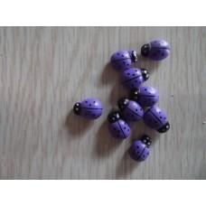 Божья коровка самоклеющаяся (9*13мм) 1шт  фиолетовая