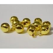 Бубенчики под золото 6мм, 25шт