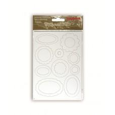 Набор вырубок из чипборда 2 листа в упаковке БЕЛЫЕ ТЭГИ