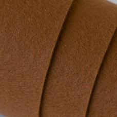 Декоративный фетр, толщина 2мм, жесткий, коричневый