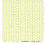 Бумага для скрапбукинга 30,5х30,5 см 180 гр/м двусторон Цветочная вышивка Французский узелок
