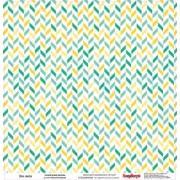 Бумага для скрапбукинга 30,5х30,5 см 180 гр/м двусторон Это лето Солнечные волны