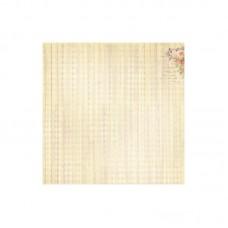 Бумага для скрапбукинга 30,5х30,5 см 180 гр/м одностор Французское Путешествие Запах Ванили