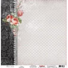 Бумага для скрапбукинга 30,5х30,5 см 180 гр/м односторон Элегия Танго
