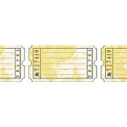 Бумажный скотч с принтом Дорожные бирки 15мм*8м