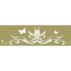 Бумажный скотч с принтом Оливковые узоры 15мм*8м