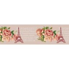 Бумажный скотч с принтом Эйфелева башня 15мм*8м