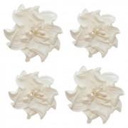 Цветы кудрявой фиалки, набор 2 шт- диам 5см, 2 шт - диам 4,2 см, белые