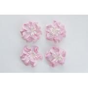 Цветы кудрявой фиалки, набор 2 шт- диам 5см, 2 шт - диам 4,2 см, розовые