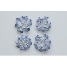 Цветы кудрявой фиалки, набор 2 шт- диам 5см, 2 шт - диам 4,2 см, сине-белые