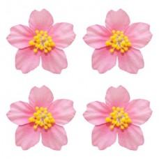 Цветы франжепани, 4 шт, розовые