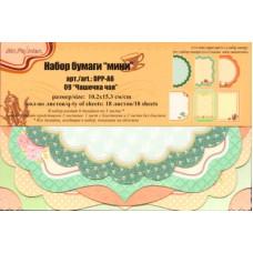 Набор бумаги мини   Mr.Painter  DPP-A6  3 х  18 л.  0.2x15.3 см 09 Чашечка чая