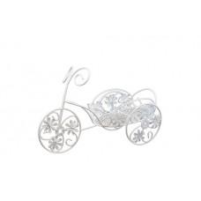 Металлический велосипед с плетёной цветочной корзиной 23*9*16см