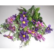 Букет, Ромашки фиолетовые и сиреневые