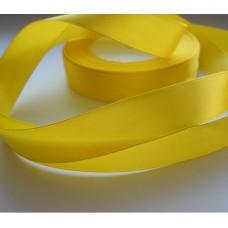 Атласная лента желтая 2см, 1м
