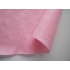 Декоративный фетр, толщина 1,4мм, мягкий, светло-розовый