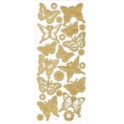 Наклейки Mr.Painter   Трехмерные   DAS  07 Бабочки (под золото)