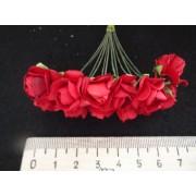 Бумажные розы красные 12шт