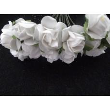 Бумажные розы белые 12шт