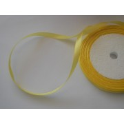Лента атласная желтая 6мм, 1м