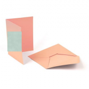Заготовка для открыток (с конвертом) 5шт Mr.Painter  MCB-01 105x145 мм, 03 Мятный