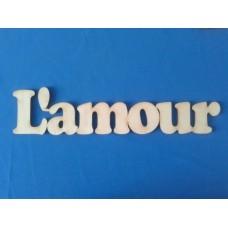Слово L'amour 35*7 см №07-0090